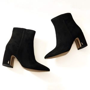Sam Edelman Hilty Black Suede Ankle Boots 10
